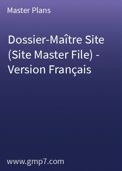 Dossier-Maître Site (Site Master File) - Version Français