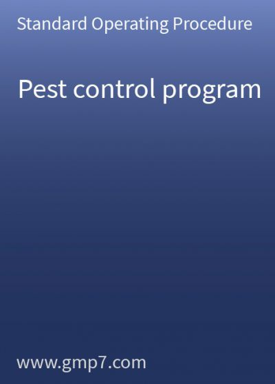 Pest Control Program - GMP SOP